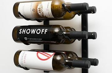 Picture of 6- Bottle, W Series 1′ Wall Mounted Metal Wine Rack