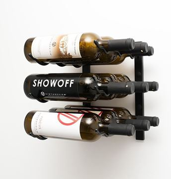 Picture of 9 - bottle, W Series 1′ Wall Mounted Metal Wine Rack