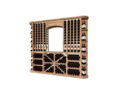 Picture for category Classic LVG,  Premium Torrefied Wood Wine Racking System