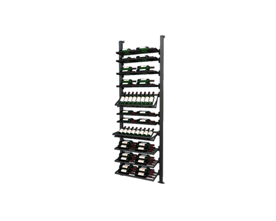 Picture of WEBKIT7 - 74 Bottles, Modular metal wine rack- Frontenac