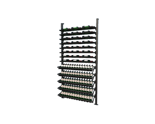 Picture of WEBKIT8 -113 Bottles, Modular metal wine rack- Frontenac